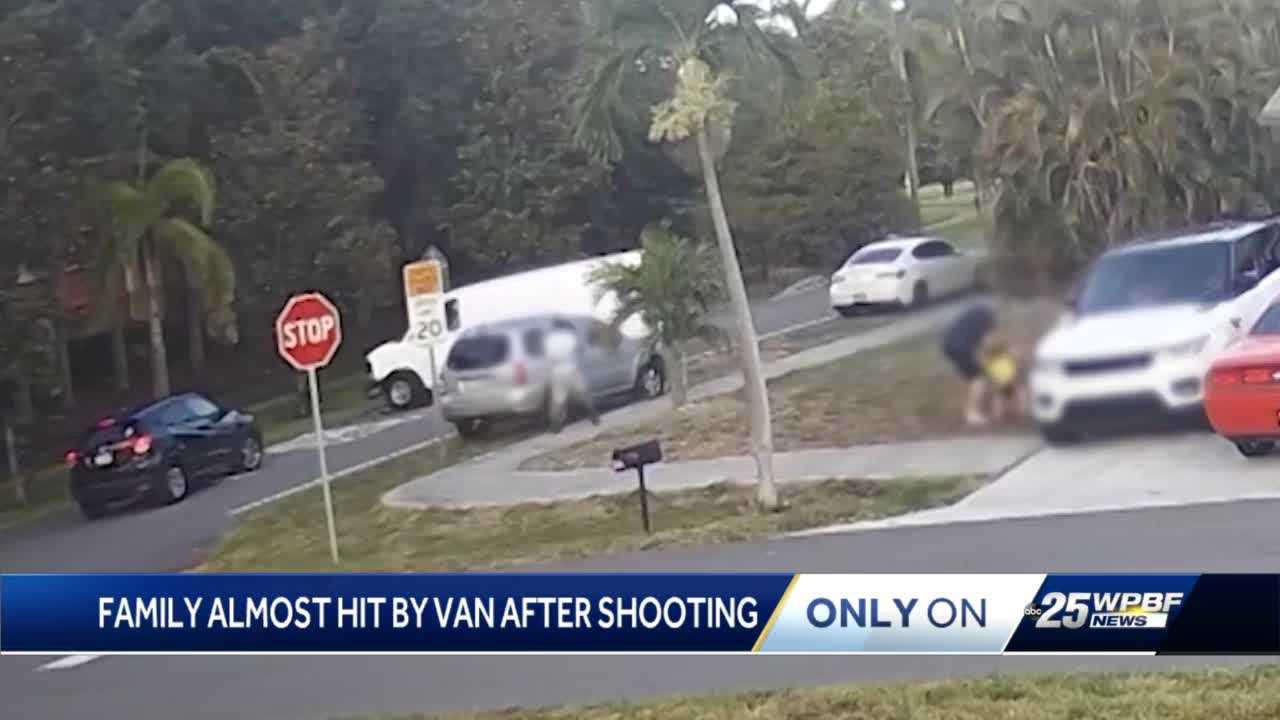 Family seen on video fleeing from suspected shooter describes terror