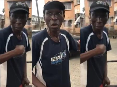 Grace to grass? Former Lagos councillor seen pushing garbage truck in Lagos (Video)