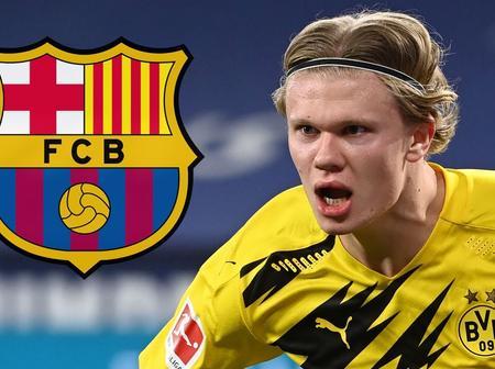 Confirmed: Erling Haaland's agent; Mino Raiola lands in Barcelona for transfer talks