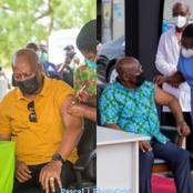 Current conditions of president Akuffo Addo and John Dramani Mahama after taking the vaccine