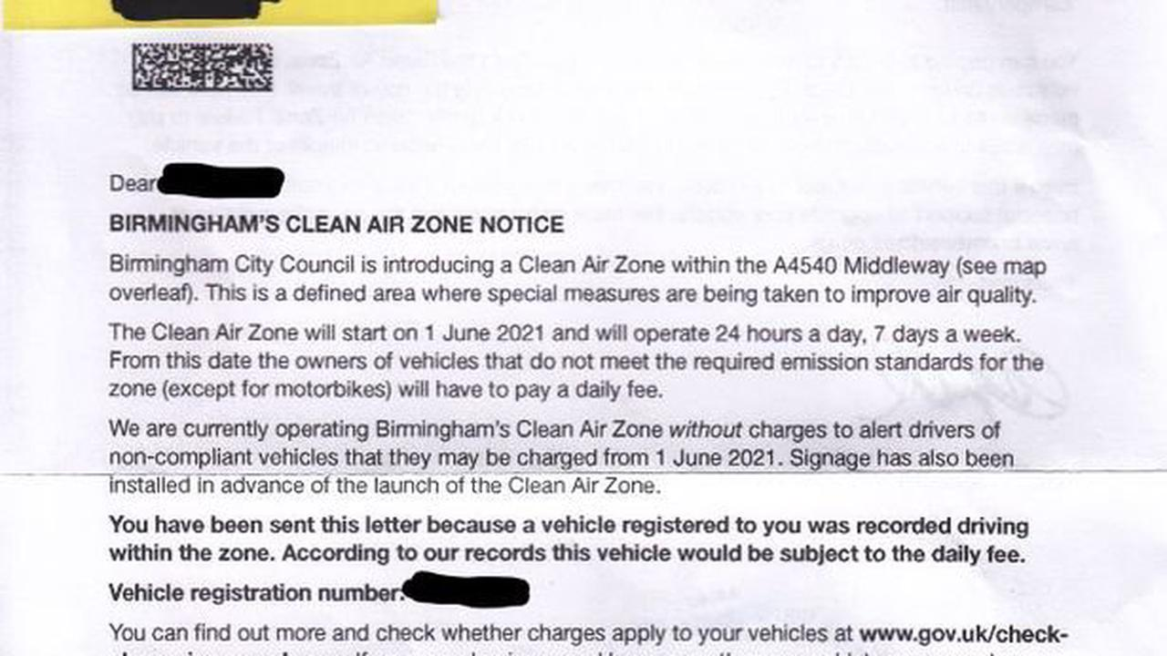 Historian threatened with fine having 'never driven into Birmingham's Clean Air Zone in my life'