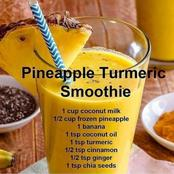 Loose weight With This Pineapple Turmeric Smoothie!