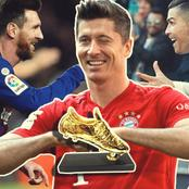 After Lewandowski Scored Brace, See Messi And Ronaldo's Positions On The European Golden Shoe List