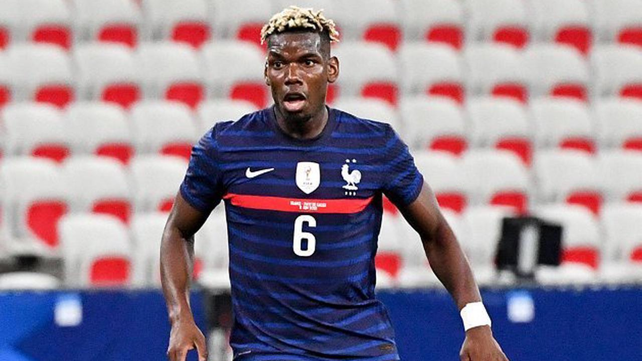 Watch: Man Utd star Pogba all smiles in France training; Deschamps chats with Griezmann