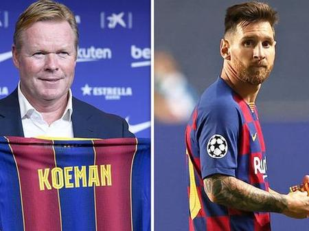 Barcelona's New Boss Ronald Koeman had Talks with Lionel Messi