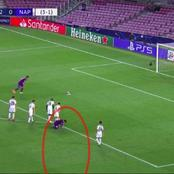 Forget Suarez? See What Lionel Messi Did Before His Teammate Scored A Penalty For Barcelona.