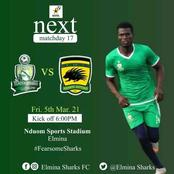 Sharks seek giant bite as Asante Kotoko visit Elmina tomorrow
