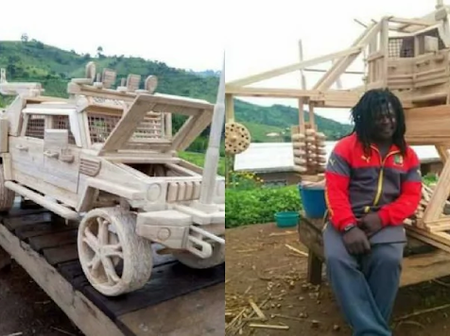 Igbo man builds helicopter and other cars