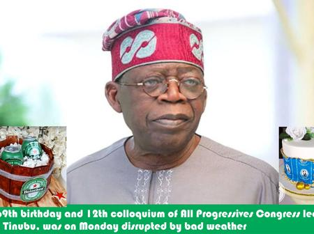 Bola Tinubu's 69th Birthday Seriously Affected By Bad Weather As Dignitaries Stay Back