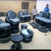 From Waste To Wealth, See What My Brother Created With Fairy Used Car Tyres