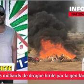 Société  Drogue : La gendarmerie vient d'incinérer plus d'une tonne de cocaïne valant 25 milliards
