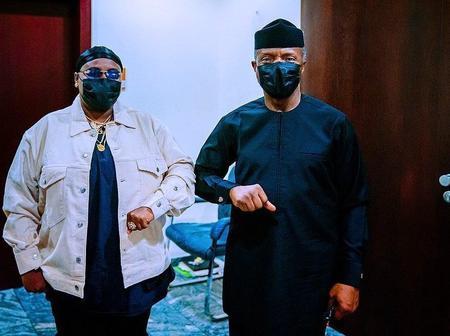[PHOTOS] Singer Teni Visits Vice President Osibajo In Aso Rock.
