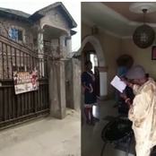 Nigerian father cries out after his son donates their family house to a church in Warri.