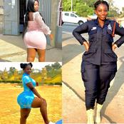 Photos Of Ghanaian Police Woman Ama Flaunts Her Curvy Backside In Her Uniform