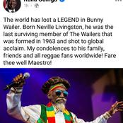 Fare Thee Well Maestro! Raila Leads Other Leaders In Mourning The Death Of Legendary Reggae Musician