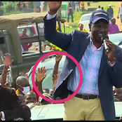 Mixed Reactions After Kenyans Spot This In Ruto's Crowd In Kakamega