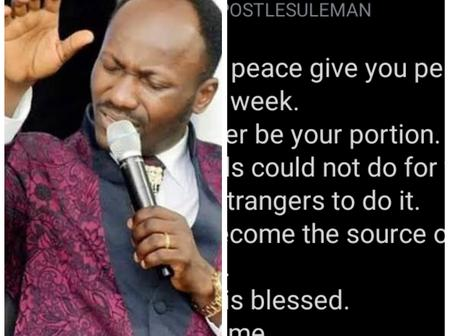 Checkout Reactions To Apostle Suleman's Words Of Declaration Today