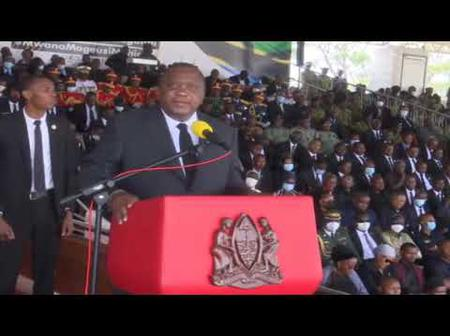Why Uhuru Kenyatta Suddenly Stopped Presenting His Speech During Magufuli's Memorial Service