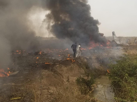 Six Persons Dead After A Nigerian Air Force Plane Crashed In Abuja On Sunday