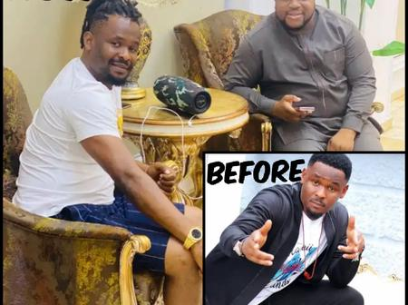 Check out reactions after Zubby flaunted his new hair style as he posed with his friend.