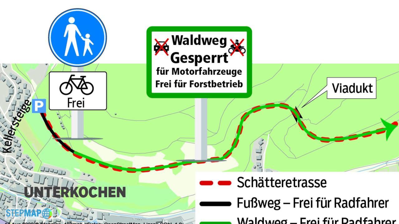 """Ortschaftsrat: Noch kein Schild """"Radfahrer frei"""" auf der Schätteretrasse"""