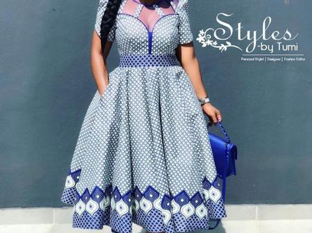 Here are some of the pictures of Shweshwe dresses that you may rock and visit your in laws.