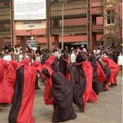 See How New University Students Held Induction Ceremony In Nigeria