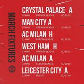 Man Utd fixtures in March that might kick them out of EPL top 4