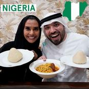 Nigerians React As Dubai-Based Couple Tasted Nigeria Food For The First Time