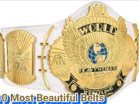 10 Most Beautiful Belts In Wrestling History