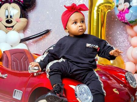 Adorable pictures of Strongman's daughter as she turned One