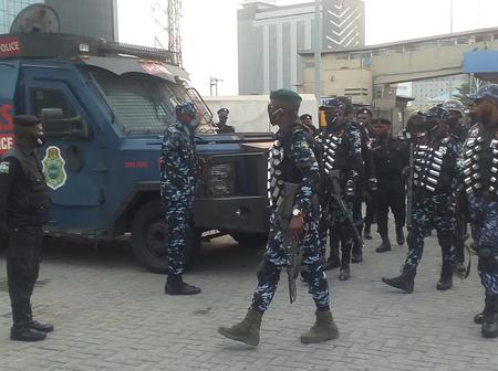 Don't Try To Go For A Protest At Lekki TollGate Tomorrow, See The Pictures Of Police Deployed There