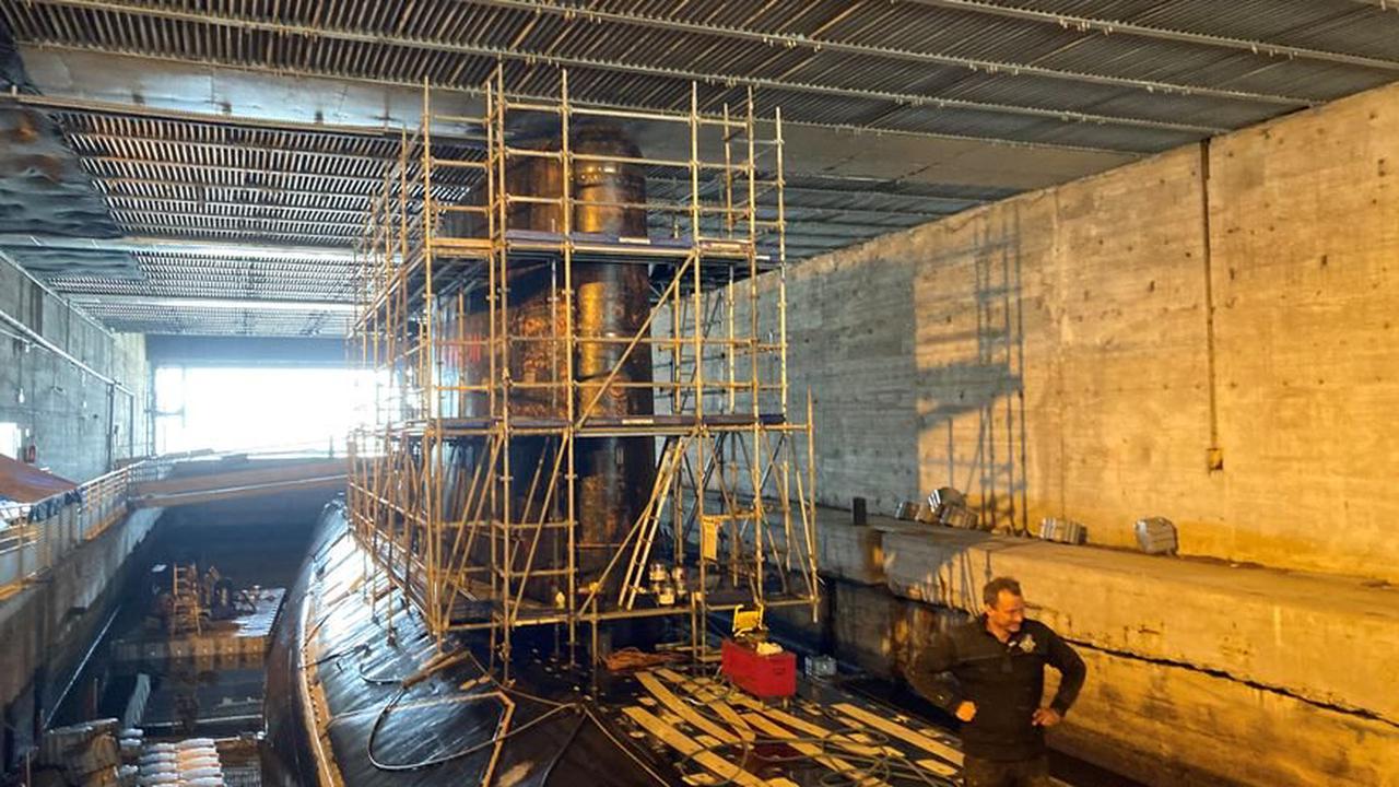 Saint-Nazaire : le sous-marin Espadon fait peau neuve