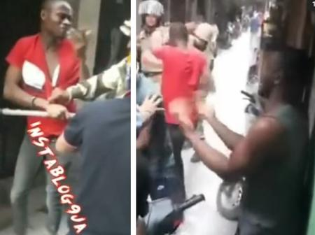Video: See How Some Nigerian Men Were Beaten By Indian Police, And The Alleged Reason For This
