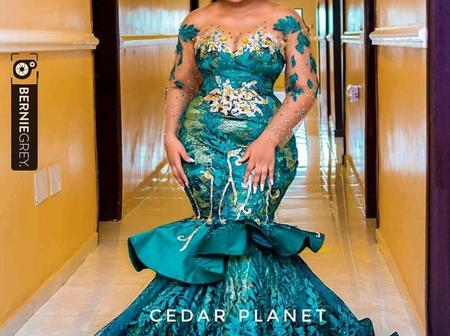 Ladies, Slay In These Beautiful Lace Gown Styles To Your Owambe Parties