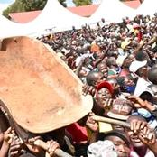 Ruto's Rally Shortly Interrupted By A Man Carrying Wheelbarrow