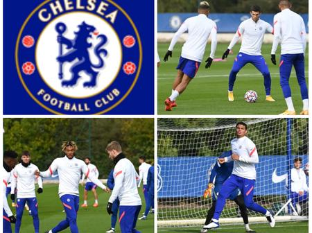 UCL: These Are The Available Chelsea Players Who Trained For Today's Game Against Sevilla (PHOTOS)