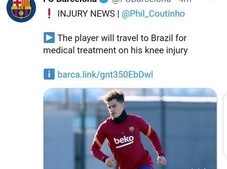 Barcelona Provide Latest Injury Update On Coutinho