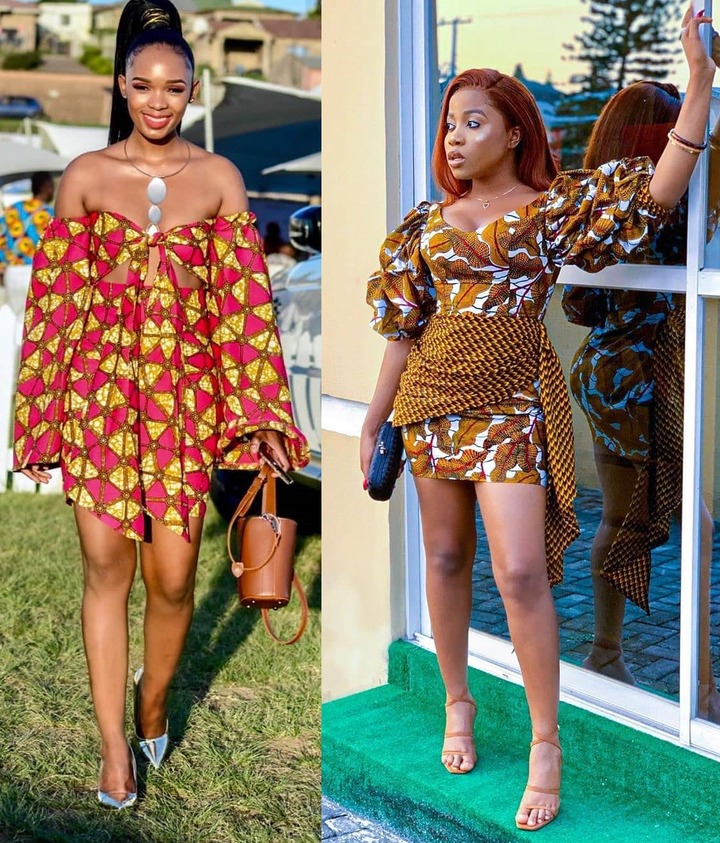 Latest Off-shoulder Ankara