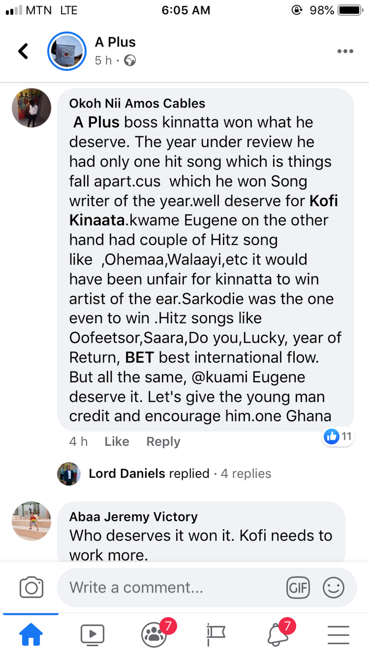 3afa6b5ace3168515b1f467b8a1b7a90?quality=uhq&resize=720 - Mixed Reactions On Social Media After Kuami Eugene Wins Artist Of The Year @ VGMA21