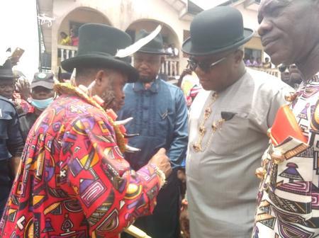 Gov. Wike, Dumo Lulu-Briggs, King Daukoru, others attend the coronation of King Herbert in Rivers