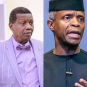 Pastor Adeboye sends strong message to Prof. Osinbajo on his birthday, see what he said