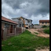 She dumped her boyfriend and the boyfriend demolished the house he built for her.