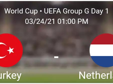 Turkey vs Netherlands Statistics