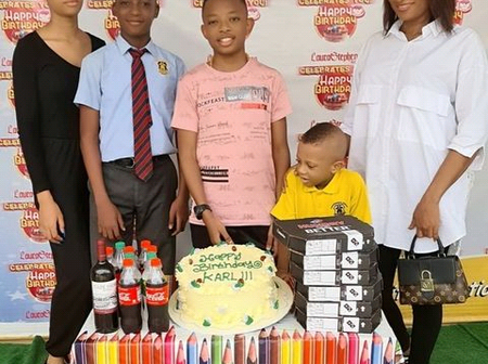 Yul Edochie Celebrates His Second Son's 13th Birthday With Lovely Family Photo