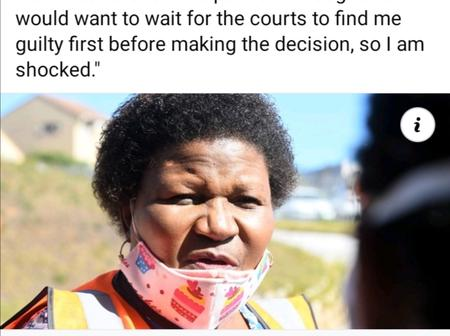 People react to MEC Sindiswa Gomba on her dismissal