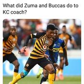 What did Zuma and Baccus do to Kaizer Chiefs Coach? - Fans ask themselves