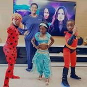 See How Mercy Johnson Dressed Her Kids In Their Favourite Heroes Costume