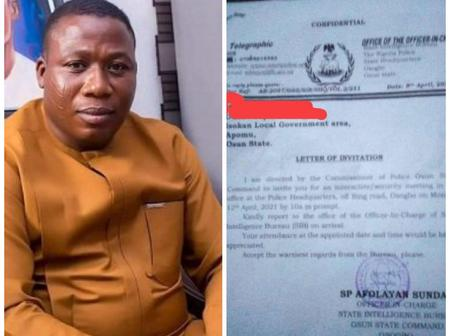 Nigerian Police Sent An Invitation Letter to Sunday Igboho Again, Read The Letter