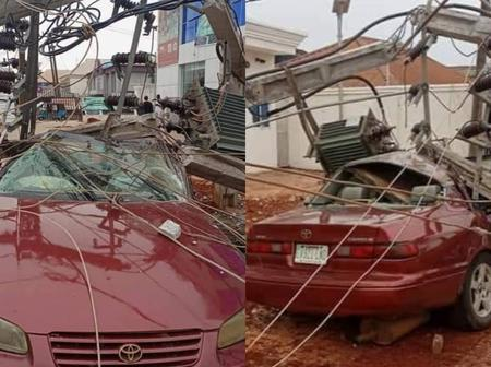 Check Out What Happened To This Car, After Its Owner Parked It Close To A Transformer (Photos)